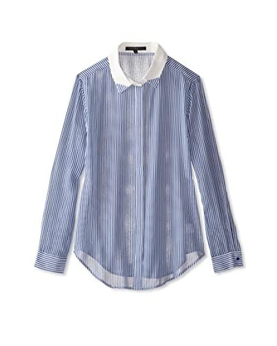 Trend Tahari Women's Button-Down Stripe Top