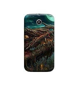 Ebby Premium Printed Back Case Cover With Full protection For Motorola Moto E (Designer Case)