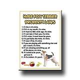 Wire Fox Terrier Property Laws Fridge Magnet No 2