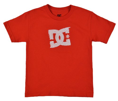 Dc Shoes Boys' Fazeo Signature Classic Logo Skateboard Shirt-Red/White-Youth Medium front-959489