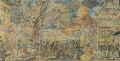 Oil Painting 'James Ensor - The Strike, 1888', 30 x 59 inch / 76 x 151 cm , on High Definition HD canvas prints is for Gifts And Garage, Hallway And Home Theater Decoration, my (Youth Vapor Keystone 2 compare prices)