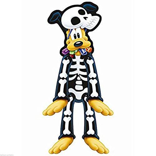 [Halloween Disney Mickey Mouse Party PLUTO Dog Skeleton Jointed Cutout Decoration] (Skeleton Costume Pose)