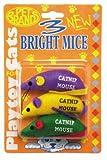 Three Bright Mice Cat Toy]