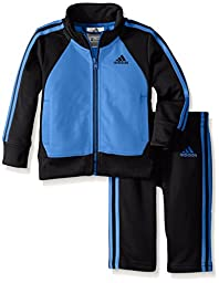 adidas Baby Boys\' Tricot Zip Jacket and Pant Set, Marina, 24 Months