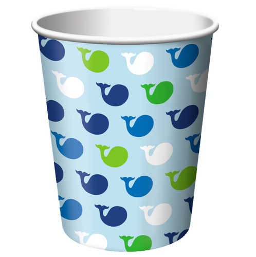 Creative Converting Ocean Preppy Boy Hot or Cold Beverage Cups, 8-Count