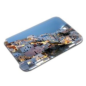 Städte 10017, Santorini, Design Gloss 3D Hard Case Hülle Shutzhülle Handytasche Tasche für Samsung Note 8.0 N5100.