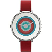 Pebble Technology Corp Smartwatch for iPhone/Android Smartphone (Red)
