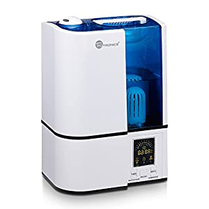 TaoTronics Humidifier Home Ultasonic Cool Mist (with Constant Humidity Mode, Mist Level Control, Timing Settings, Built-in Water Purifier, LED Nightlight, Zero Noise) by TaoTronics