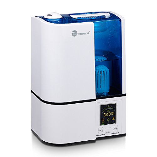 [Most Advanced Humidifier with LED Array] TaoTronics Ultrasonic Humidifier Cool Mist (with Constant Humidity Mode, Mist Level Control, Timing Settings, Built-in Damp Purifier, LED Nightlight, Zero Noise)