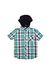Poppers by Pantaloons Casual Shirt_Green_7-8YRS