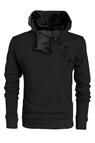 eshion Men's Casual Side Half Zip Hoodies Sweatshirt Coat With Fleece (Mens Hoodie Side Zip compare prices)