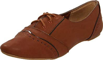 Not Rated Women's Drum Roll Oxford,Tan,6 M US