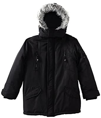 Timberland Boys 8-20 Snorkle Jacket, Black, Small