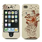 Apple iPhone 4S / 4 Tasmanian Devil (Looney Tunes) TAZ Protector Snap on Case - Includes TWO charm Holders