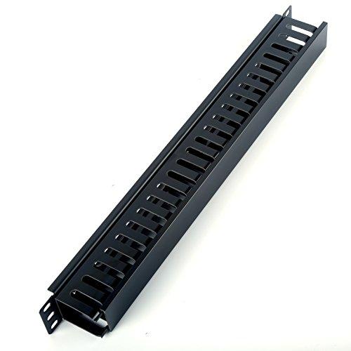 HAMSWAN-Horizontale-Kabelmanagement-Kabelmanager-Serverschrank-Rack-Mount-1U-19-zoll-Kunststoff-und-Metall
