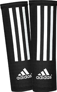 adidas Shin Guard Compression Sleeve (Black, White, Size Large)