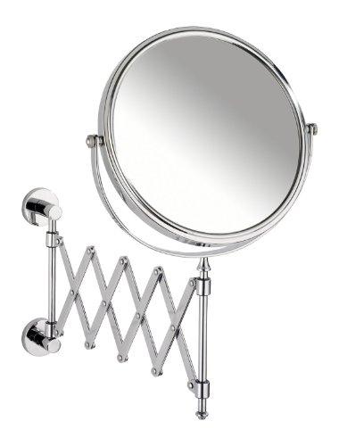 wenko-17818100-power-loc-specchio-cosmetico-telescopico-elegance-regolabile-fissaggio-senza-trapano-