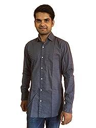 Maclavaro Men's Casual Printed Shirt_9fiprnt_Black_M