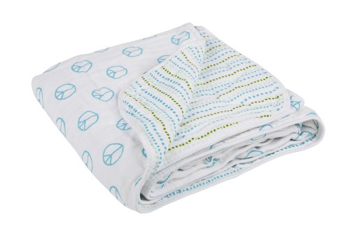 Lassig Extra Cozy Blanket, Peace and Dots Boys - 1