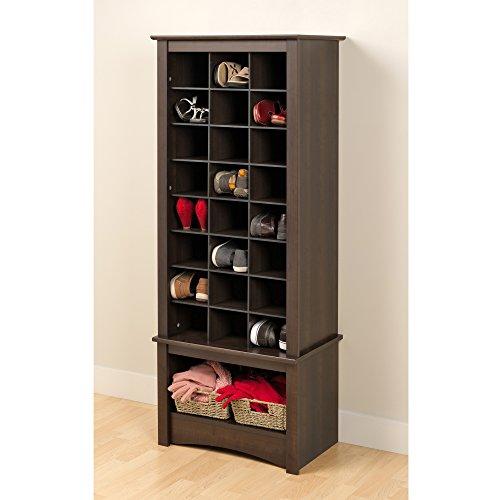 Espresso Tall Shoe Cubbie Cabinet (Tall Shoe Storage compare prices)