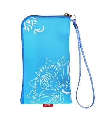 Neopren Zipper Tasche Handytasche FLOWER BLAU mit Blumenmuster f&#252;r Motorola Atrix 4G Huawei Ideos X3 RIM Blackberry Bold 9700 9780 Curve 8520 Storm 2 9520 9550 Nokia C5 C5-03 C6 C7 N78 N79 N8 N97 E71 E72 X6 5228 5230 5250 5800 XpressMusik X3-02 Touch and Type Google NEXUS S Samsung i5800 Galaxy 3 i9000 Galaxy S S5230 S5260 Star 2 II S5570 Galaxy MINI S5620 Monte S8000 Jet S8500 Wave S8530 Wave 2 S5830 Galaxy Ace 525 533 723 LG KP500 Cookie KM900 Arena KM570 Arena II Apple iPhone 3G 3GS 4 4S HTC