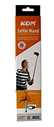 KDM Extendable Self Portrait Selfie Stick Handheld Monopod with Aux Cable as built-in Remote Shutter for iPhone 6, iPhone 5, Samsung Galaxy S5, Galaxy S6, Android. Comes in any colour from assorted range shown here.