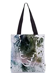 Snoogg Multi Troyd Poly Canvas Tote Bag