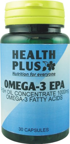 Health Plus Omega-3 Epa 1000mg Fish Oil Supplement - 30 Capsules
