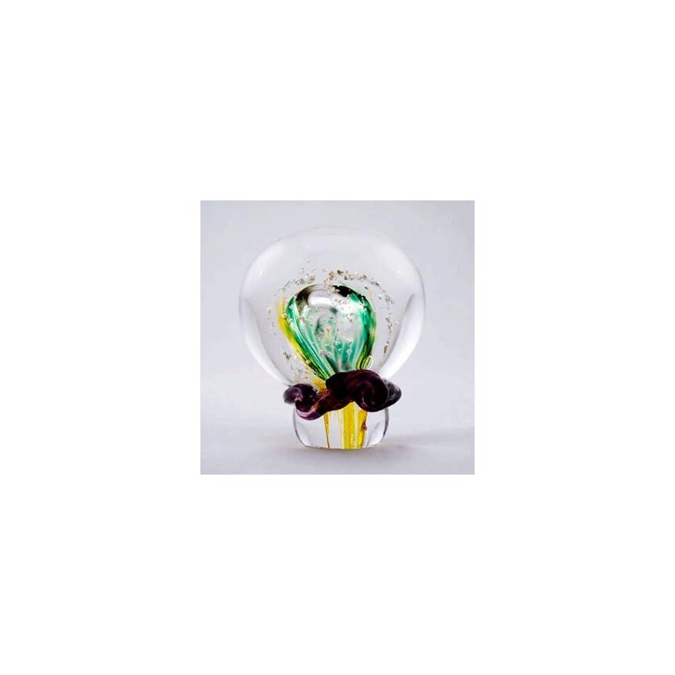 Keepsake urns green and yellow teardrop memory glass on