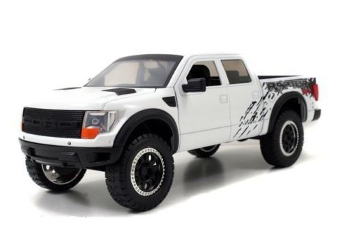 2011 Ford F-150 SVT Raptor Pickup Truck White 1/24 by Jada 96867 (Ford Raptor Model compare prices)