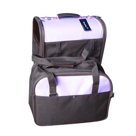 Twin Pet Carrier Dog Cat Bag Tote Purse w/Wheels 11CP/DP