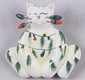 Whimsiclay Sparkie Cat Magnet