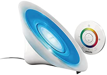 Philips LivingColors Aura Colour Changing Mood Light - White (Integrated 1 x 8 Watts LED Bulb, Remote Control)