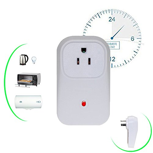 YETOR Wifi Smart Socket Digital Power Timer Switch Wireless Remote Plug Electrical Outlet 2g/3g/4g/wifi Switch on/off Appliance with Free APP for iPhone and Android Smartphones Anywhere -2.4GHZ (Fuji Air Conditioner Remote compare prices)
