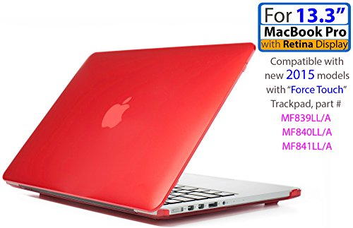 iPearl mCover Hard Shell Case for 13-inch Model A1425 / A1502 MacBook Pro (with 13.3-inch Retina Display) - RED by iPearl Inc, USA