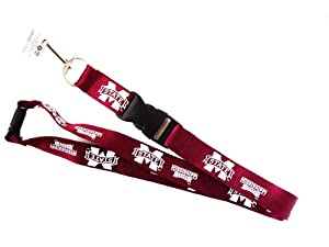 Buy Mississippi State Bulldogs Sports Collegiate Team Logo Lanyard Keychain Id Ticket Red by aminco