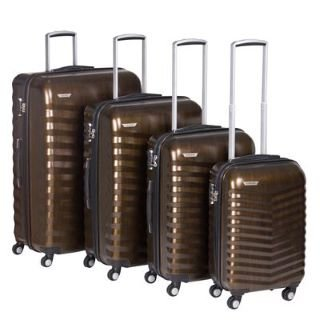 Kangol Case 4 Piece Suitcase Set Brown -