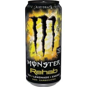 16 Pack - Monster Rehab - Tea + Lemonade + Energy - 15.5oz.