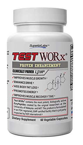 Top Selling Booster Supplement Test Worx - 6 Week Cycle - Made In The USA- Ingredients Proven In Human Trials To Improve Athletic Performance.
