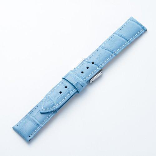 [] タイムキング TimeKing 皮革手表带 E 大小 18 毫米 B 大小 16 毫米 (浅蓝色) 男装
