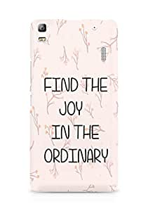 AMEZ find the joy in the ordinary Back Cover For Lenovo A7000
