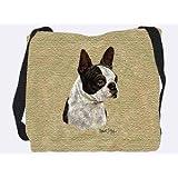Boston Terrier Black Tote Bag - 17 x 17 Tote Bag