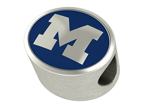 Michigan Wolverines Enameled Charms Fit Most European Style Bracelets
