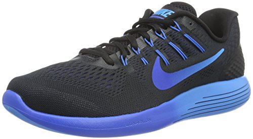 Nike Lunarglide 8, Scarpe Running Uomo, Multicolore (Black/Multi-Color-Deep Royal Blue-Hyper Cobalt), 41 EU