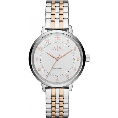 Emporio Armani AX5370 - Reloj con correa de metal para mujer, color azul