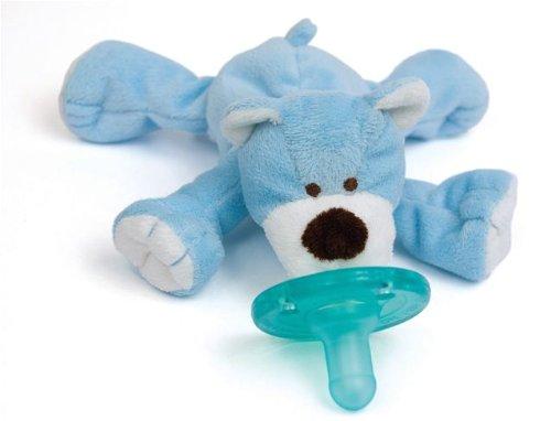 Wubbanub Infant Plush Pacifier - Blue Bear front-514676