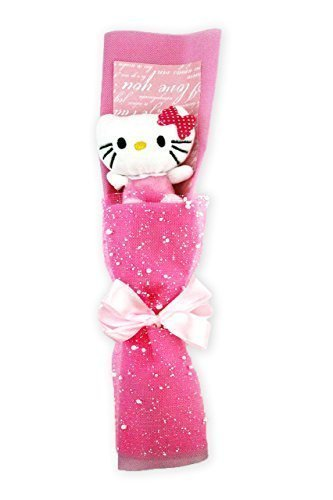 "12"" Hello Kitty Handmade Rose Flower Plush Doll Bouquet Graduation Birthday Valentine Gift"