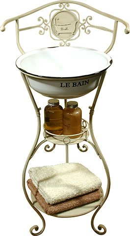 New Shabby Chic Vintage Style Bathroom WASH STAND VANITY UNIT with Sink in Cream