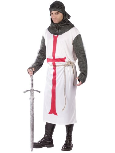 British Knight Costume Templar Army Warrior Renaissance Costume