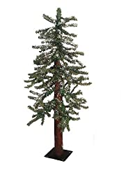4' Snowy Flocked Alpine Artificial Christmas Tree - Unlit